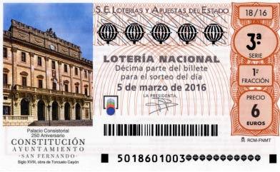 Loteria nacional 5 de marzo