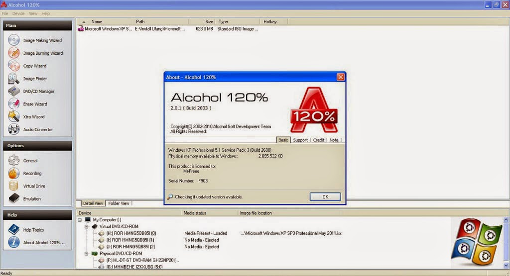Download Alcohol 120% v2.0.3.Build 6951 Terbaru Full Version