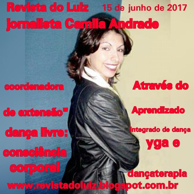Perfil da jornalista Camila Andrade.