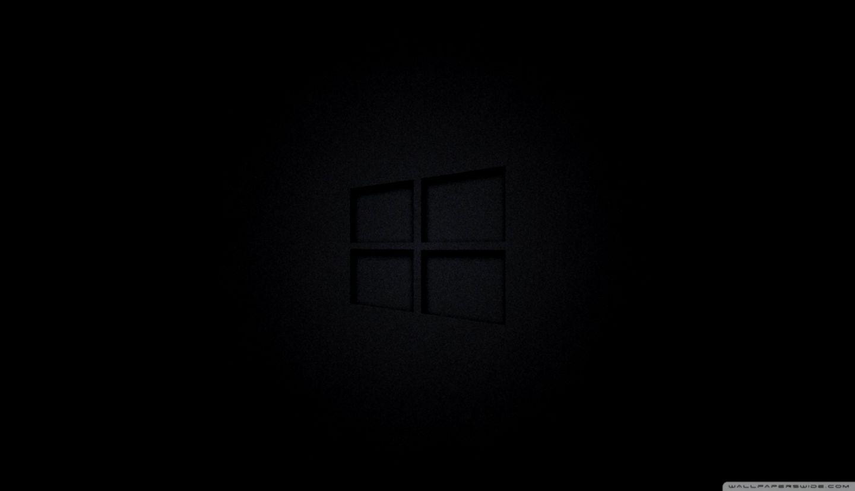 Windows 10 Black Screen Wallpaper Hd