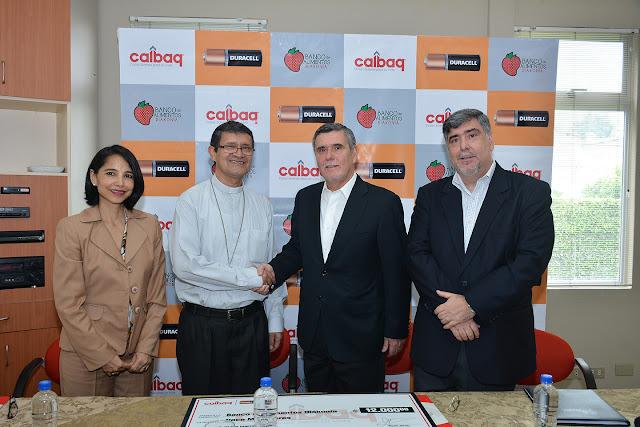 Calbaq firmó convenio de cooperación con Banco de Alimentos Diakonía