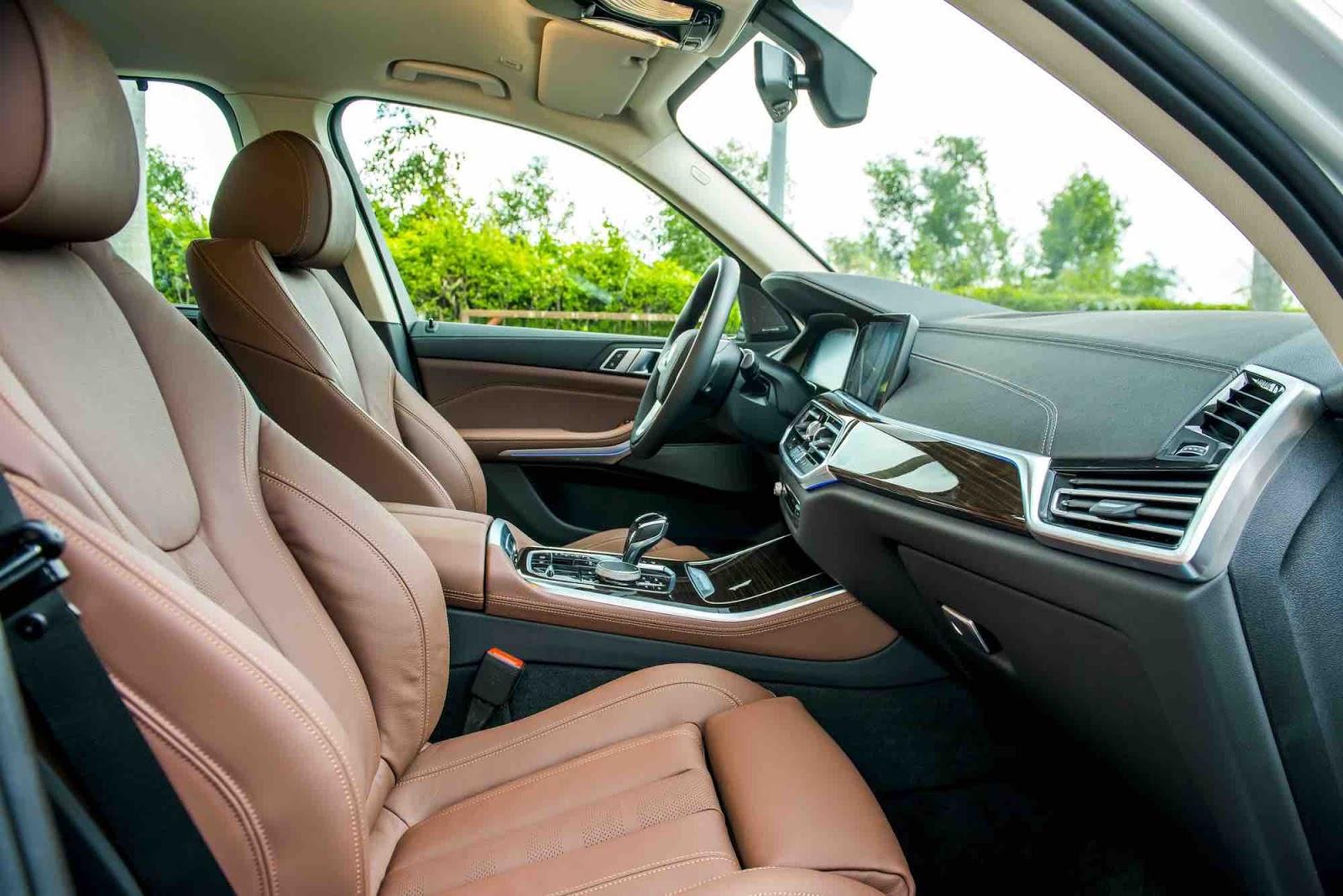 Xe 7 Chỗ BMW X5 Đời 2020 Giá Và Thông Số Kỹ Thuật - nội thất màu nâu da bò