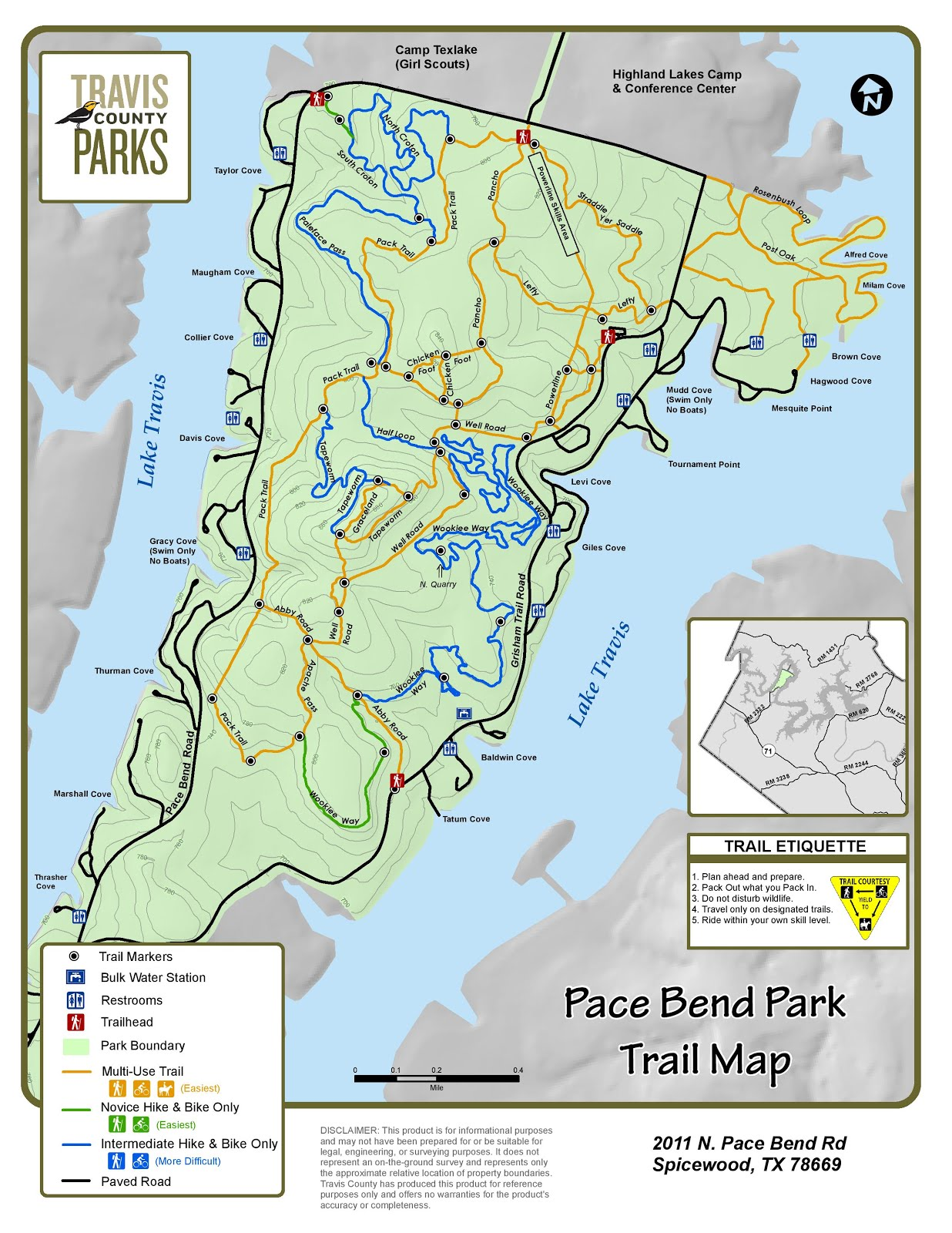 Pace Bend Park Map Adventures with BeeGee: Trip Report: Pace Bend Park Pace Bend Park Map