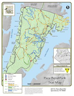 Map of Pace Bend Park