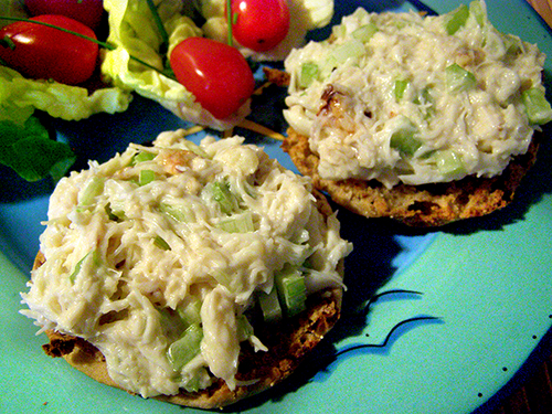 Crab Salad Plate before Garnishes