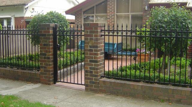 gambar pagar besi minimalis sederhana
