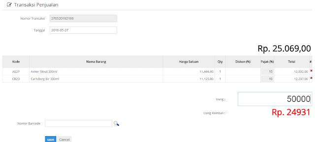 Source Code Aplikasi Penjualan Stok Barang dengan PHP ( support scan barcode )