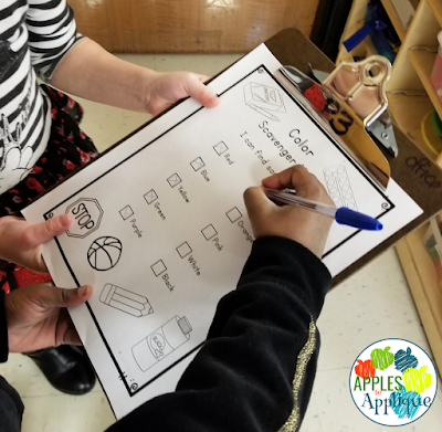 Early Childhood Classroom Scavenger Hunts | Apples to Applique