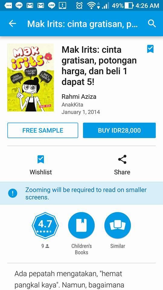 Jajan Online E-Book Mak Irits dengan Pulsa Telkomsel