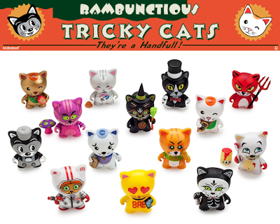 "Tricky Cats 3"" Mini Figure Blind Box Series by Kidrobot"