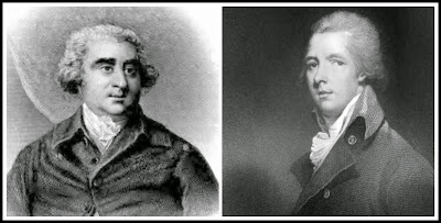 Left: Charles James Fox from The Historical and Posthumous Memoirs   of Sir Nathaniel Wraxall (1884)  Right: William Pitt the Younger from Memoirs of George IV by R Huish (1830)