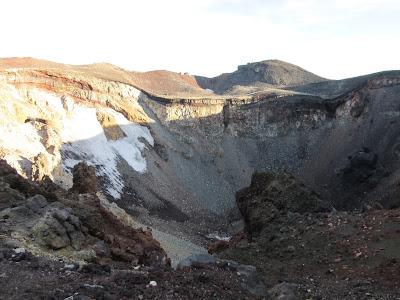 Cráter del monte Fuji, Japón