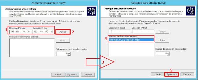 Introduciremos el rango de IP's ocupadas en los cuatros de texto Dirección IP inicial y Dirección IP final. Seguidamente, pulsaremos el botón Agregar.