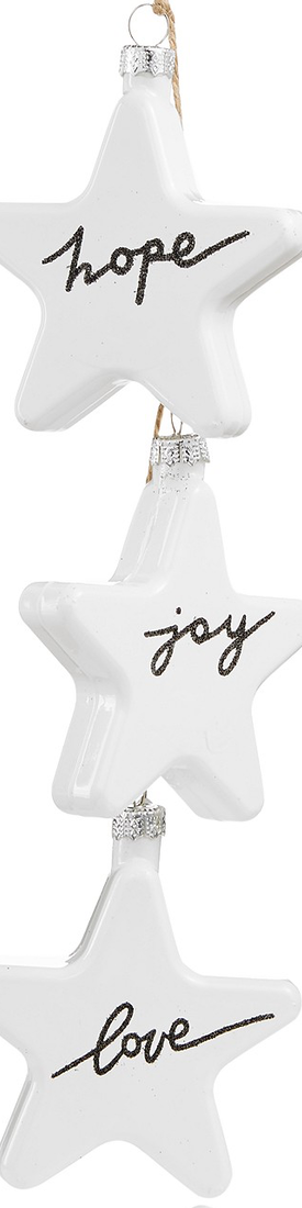Holiday Lane Hope, Joy, Love Glass Star Ornament, Created for Macy's