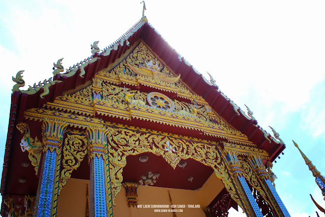 Wat Plai Laem is a Buddhist temple on the resort island of Ko Samui, Thailand. Like the nearby Wat Phra Yai, or Big Buddha Temple, Samui Attraction