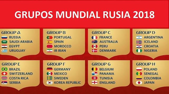 Image Result For Grupos Mundial Rusia