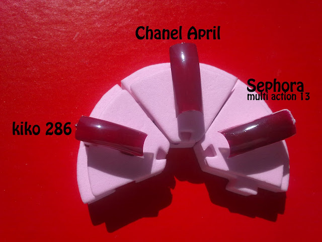 kiko 286 e sephora 13 - dupe di april chanel