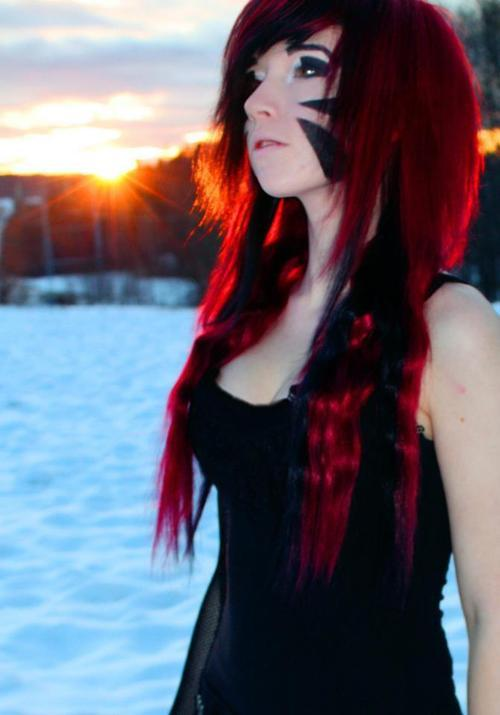 Scene Queen: Red Scene Hair