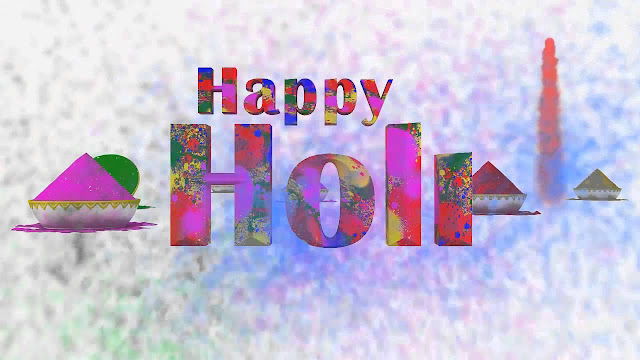 Happy Holi Wishes Wallpaper In Hindi
