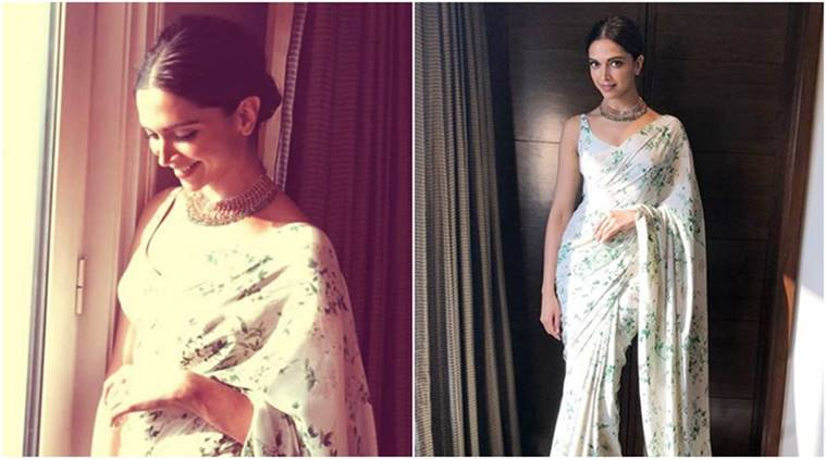 5c1624c17 Deepika Padukone recently drew her attention when she was wearing an ivory  sari by Sabyasachi. During the participation of Ranveer Singh in the  Hindustan ...