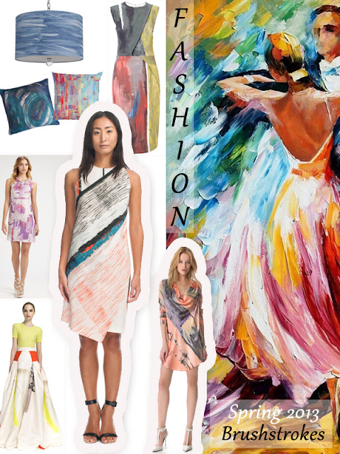 Trending Fashion Spring 2013 Brushstrokes