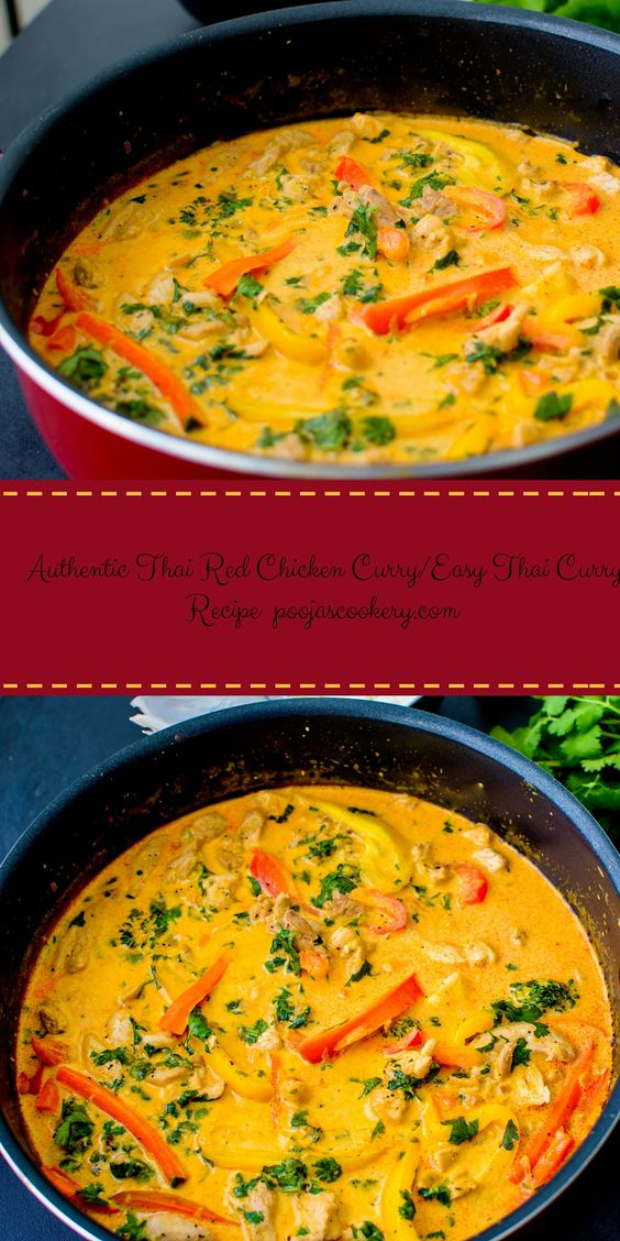 THAI RED CHICKEN CURRY / EASY THAI CURRY RECIPE