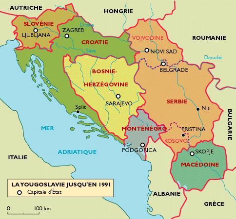 Carte Yougoslavie 1991.Le Blog De Gilles Les Etats Issus De L Ex Yougoslavie