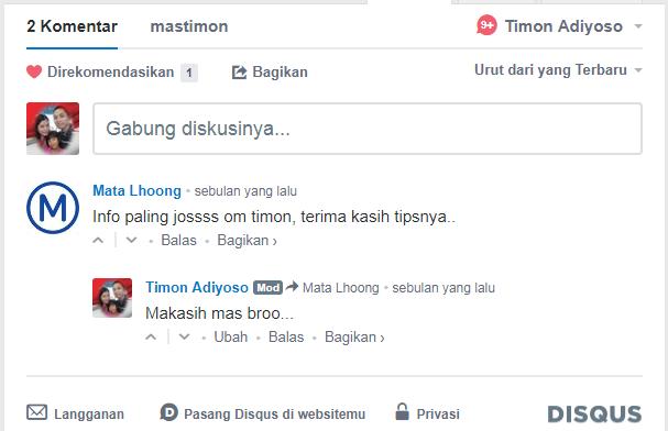 Cara memasang Widget Komentar DISQUS di Blog/Web dengan mudah