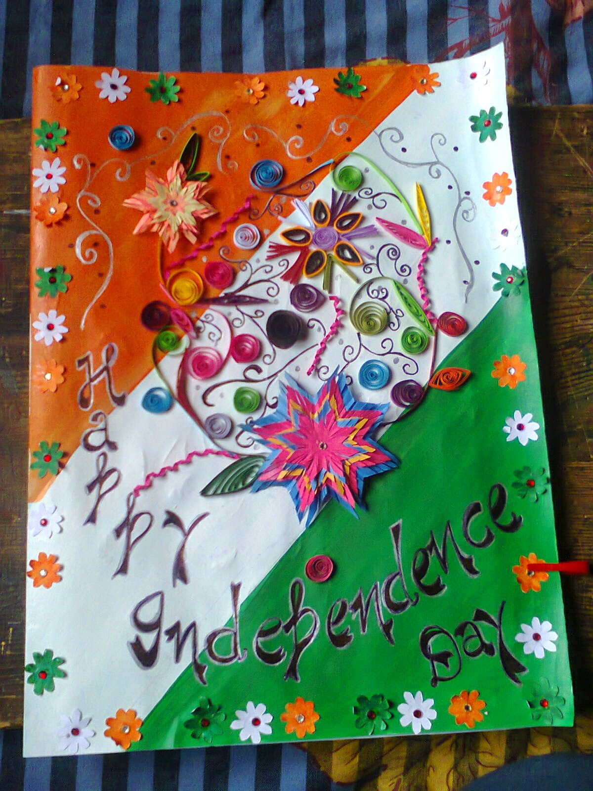 Exceptional Card Making Ideas Independence Day Part - 11: Invitation Card For Independence Day Of India