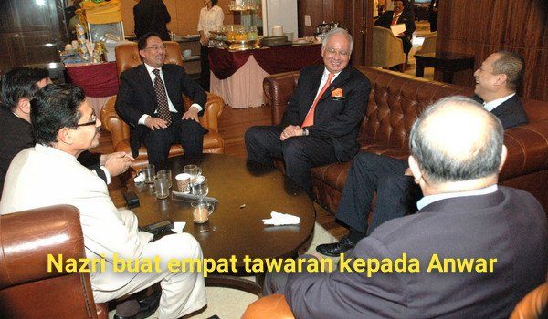 Nazri buat empat tawaran kepada Anwar
