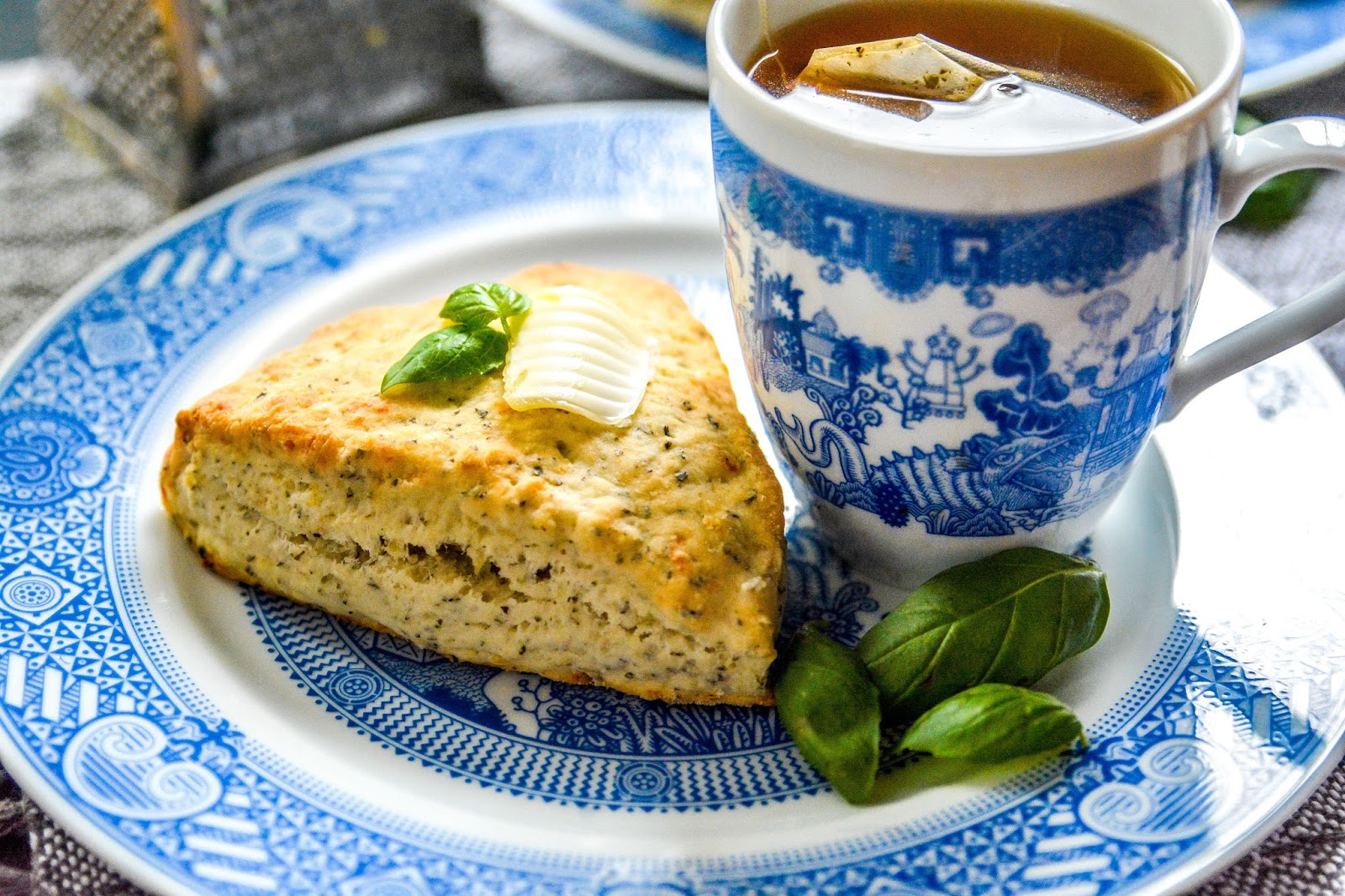 Aged Cheddar and Basil Scones