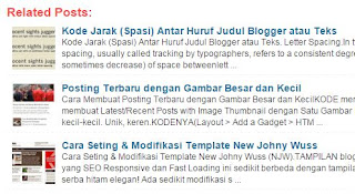 Kode Membuat Related Post with Thumblail Image di Bawah Posing Blog