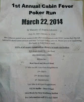 1st Annual Cabin Fever Poker Run