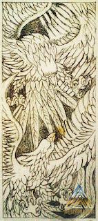 sketsa relief gambar burung untuk batu alam paras jogja/ batu paras putih