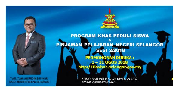 Bantuan Pinjaman Pelajaran Negeri Selangor Selangor State Government Education Loan Application Online Pendidikanmalaysia Com