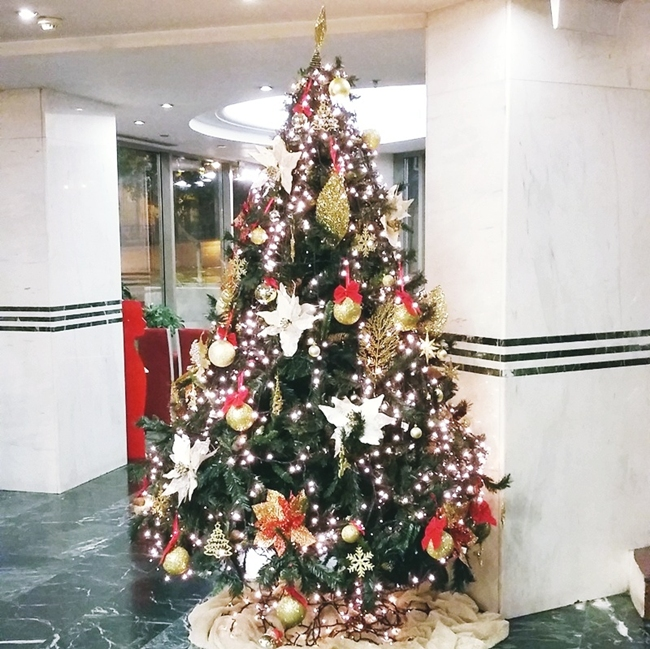 Christmas decoration at Dorian Inn hotel Athens