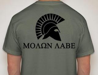 iii percent iii arms molon labe shirts. Black Bedroom Furniture Sets. Home Design Ideas