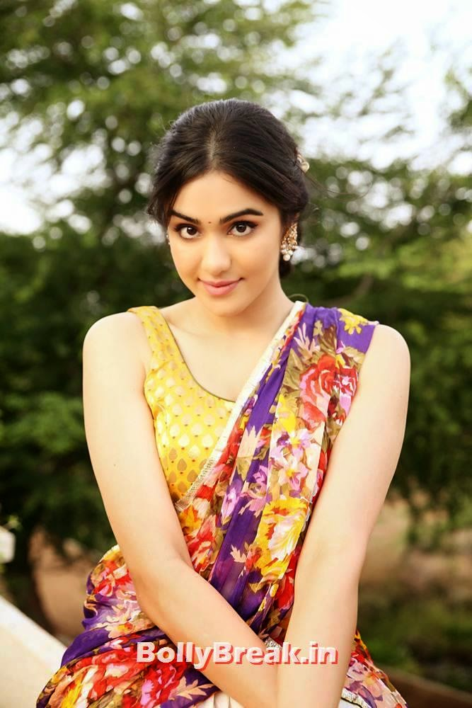 , Adah Sharma HD Face Close Up Gallery in Saree