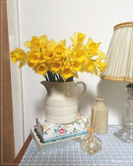 Daffodils-in-Milk-Jug-in-Flower-on-Hallway-Table