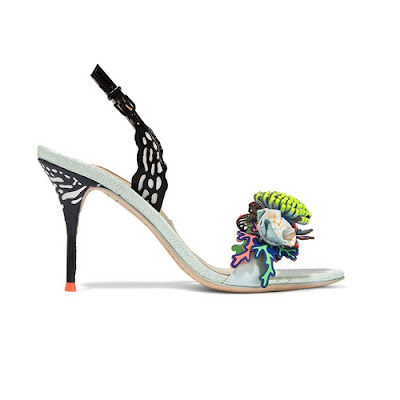 sophia webster underwater lilico appliqued high heeled leather slingback