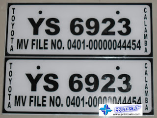 Stickers on Acrylic - Plate Number