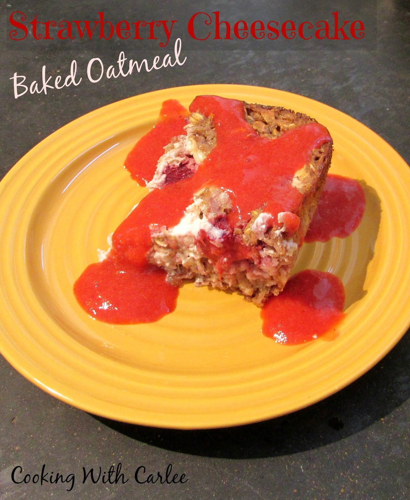 for breakfast and it's pretty healthy too! Strawberry Cheesecake Baked ...