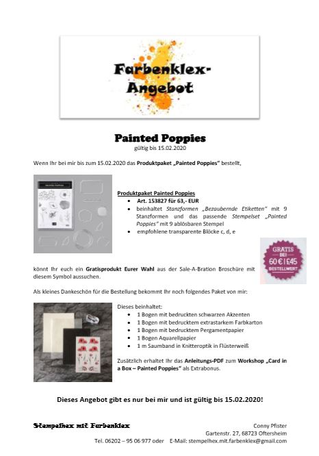"Farbenklex-Angebot ""Painted Poppies"""