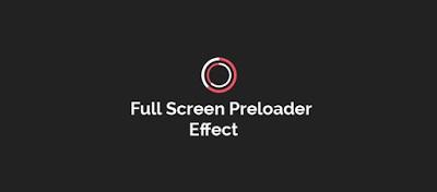 How to Create Full Screen Preloading Effect