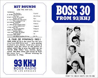 KHJ Boss 30 No. 9 - The Beach Boys