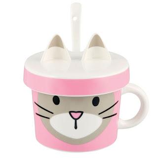 Cana roz cu capac model pisica cu urechiuse cumpara aici