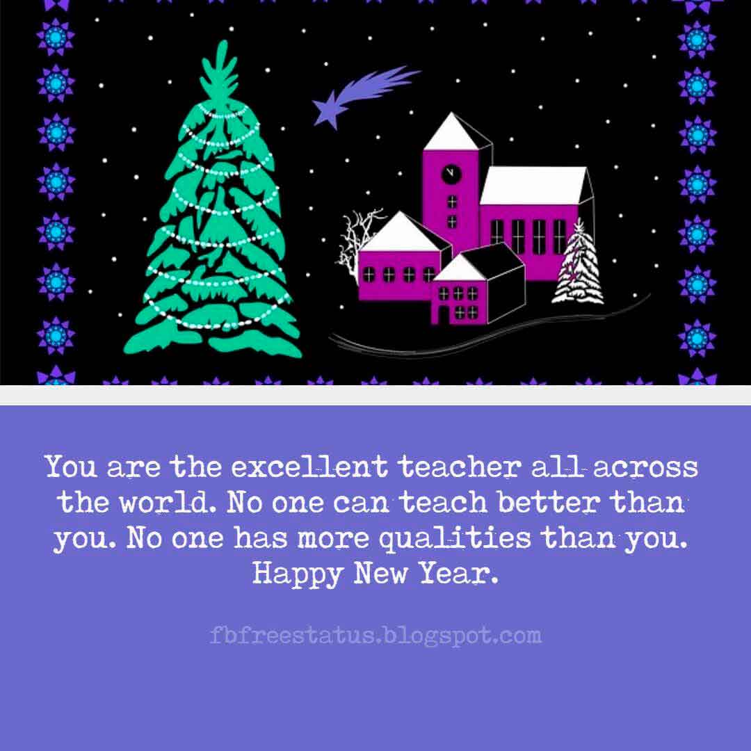 New Year Wishes Messages For Teacher And New Year Wishes