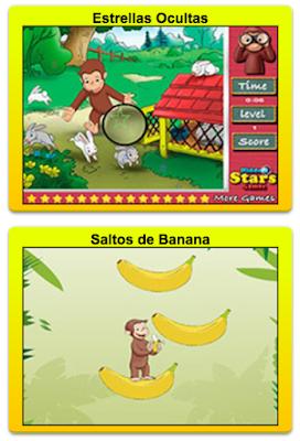Juegos infantiles de Jorge el Curioso del canal discovery kids para niños y niñas