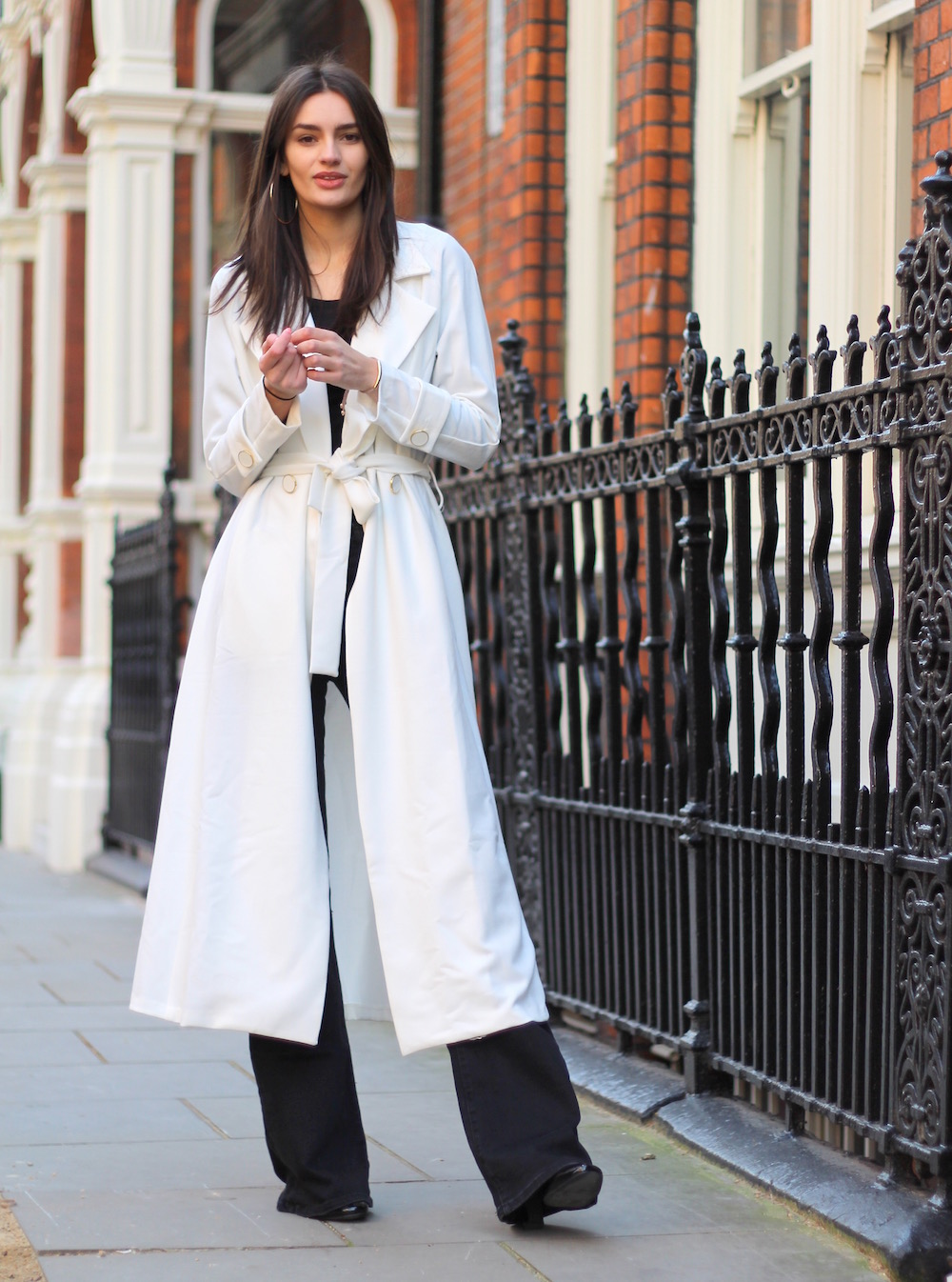 duster coat and flares