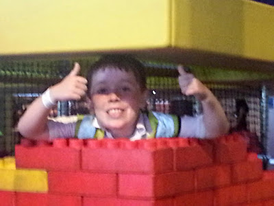 Boy with Giant Lego